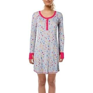 Munki Munki Womens Teeny Mittens Nightshirt Knit Henley