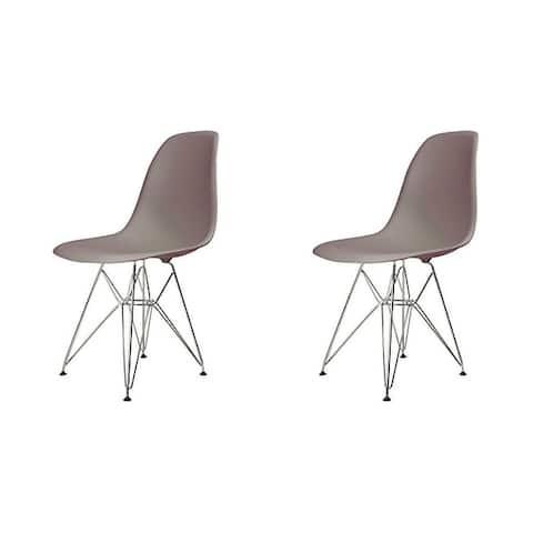 Mid-century Modern Eiffel Style Dining Chair (Set of 2)
