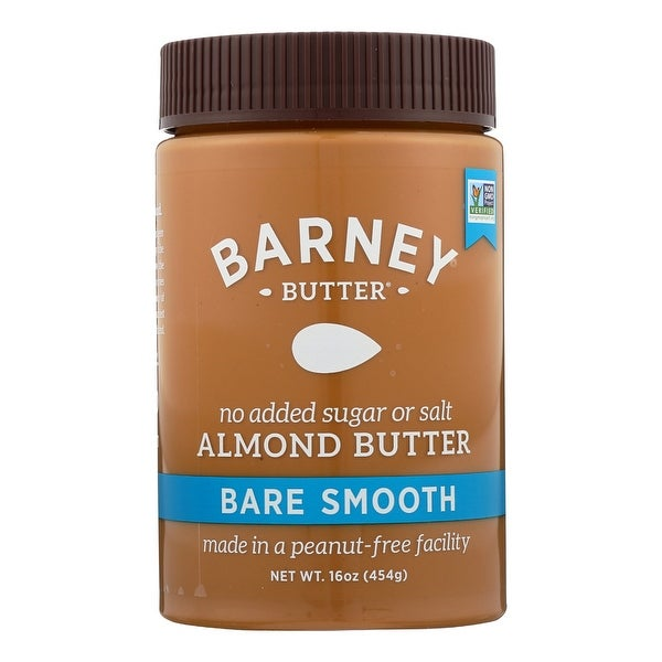 Barney Butter Almond Butter - Bare Smooth - Case of 6 - 16 oz.