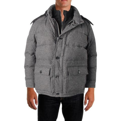 Vince Camuto Mens Puffer Coat Winter Quilted