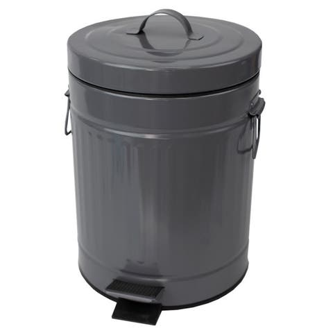 Oscar 5 LT Step Stainless Steel Waste Bin, Grey