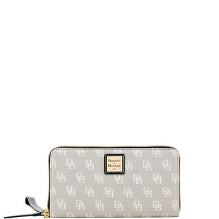 Dooney & Bourke Madison Signature Large Zip Around Wristlet (Introduced by Dooney & Bourke at $128 in Jan 2018)