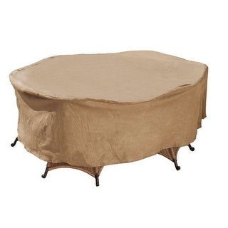 """Budge P5A13SF1-N Oval Or Rectangular Patio Set Cover, 112"""" x 84"""" x 30"""""""