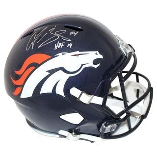 Champ Bailey Autographed Denver Broncos Speed Replica Helmet HOF JSA