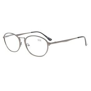 Eyekepper Spring Hinges Retro Eyeglasses Gunmetal+1.75