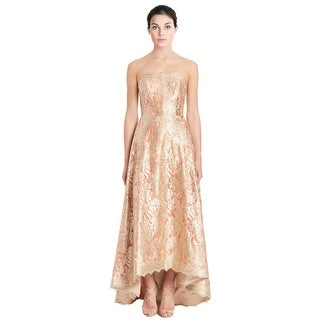 Theia Floral Lace Overlay Strapless Ball Evening Gown Dress - 16