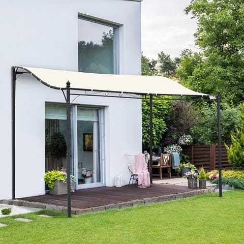 Outsunny 10' x 10' Foot Steel Outdoor Pergola Patio Canopy Gazebo