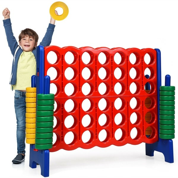 Costway Jumbo 4-to-Score 4 in A Row Giant Game Set Kids Adults Family. Opens flyout.