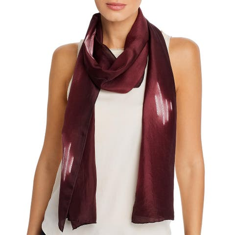 Eileen Fisher Womens Decorative Scarf Silk Pattern - O/S
