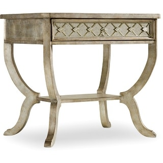 "Hooker Furniture 5413-90015  32"" Long Hardwood End Table from the Sanctuary Collection - Bardot Aged Silver Leaf"