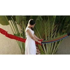 Sunnydaze Hammock Cover, 191 Inch Long x 9 Inch Wide - Red