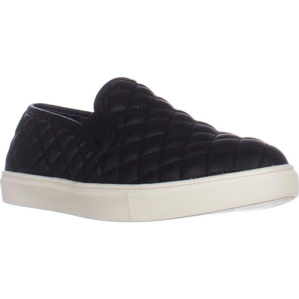 bd2b69bb5453 Shop Steve Madden Ecentrcq Quilted Fashion Sneakers, Black - On Sale ...