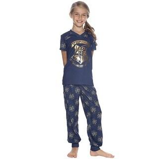 Intimo Harry Potter Big Girls' Hogwarts Crest Jogger Pajama Set