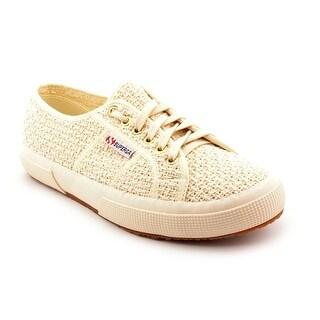 Superga Crochet Women Round Toe Canvas White Sneakers