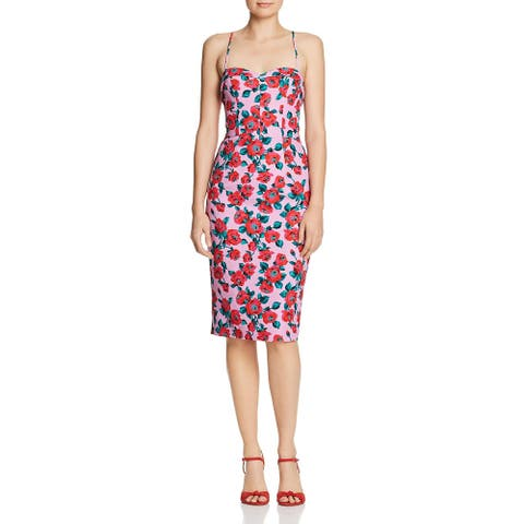Black Halo Womens Clover Cocktail Dress Printed Party - Ravel