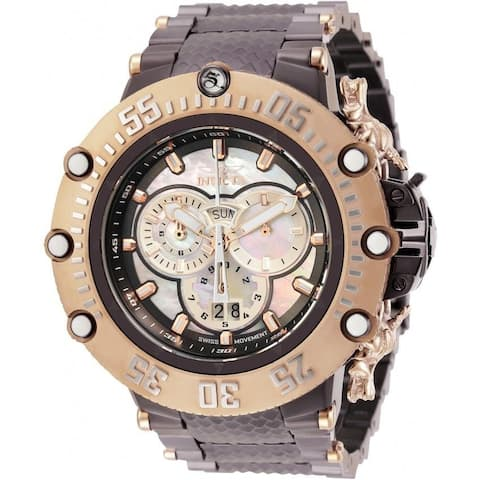 Invicta Men's 32230 'Subaqua' Brown Stainless Steel Watch - Silver