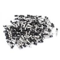 Unique Bargains 3.5mm Mono Audio Male Plug Jack Connector Soldering Adapter 150PCS