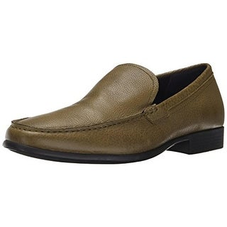 Calvin Klein Mens Landen Leather Slip On Loafers - 10.5 medium (d)