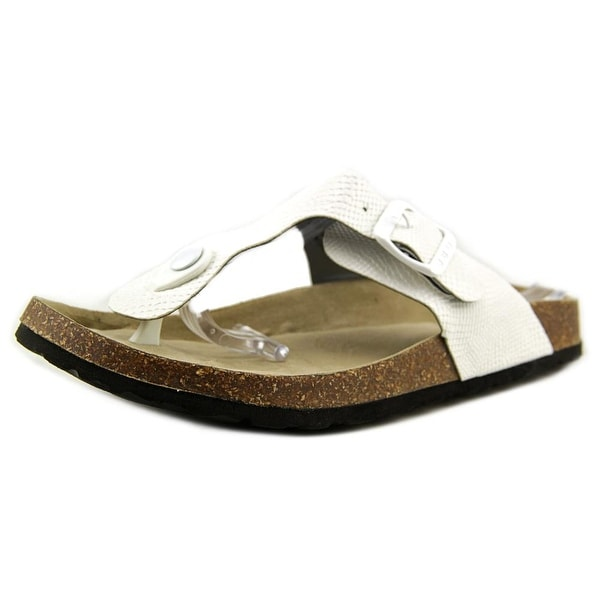 JBU by Jambu Laura Women Open Toe Synthetic White Thong Sandal