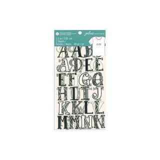 "EK Jolee's Iron On Transfer 1.5"" Alpha Print B/W"