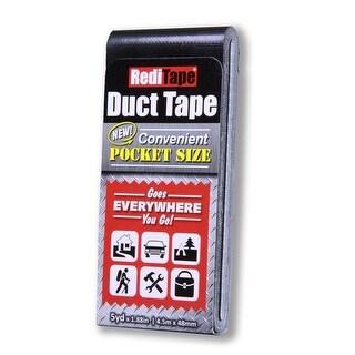 "RediTape BLK-500 Pocket Size Duct Tape, 1.88"" W X 5 Y, Black"