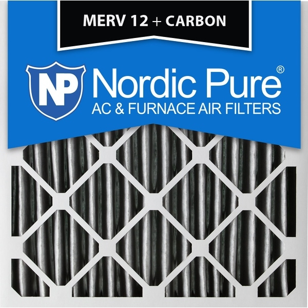 nordic pure 20x20x4 pleated merv 12 plus carbon ac furnace air ...