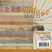 """Vintage Objects; Double-Sided Designs - Find It Trading Yvonne Creations Paper Pack 6""""X6"""" 23/Pkg"""