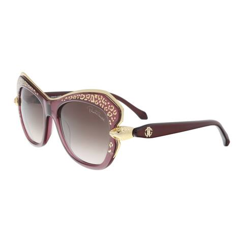 Roberto Cavalli RC981S 74F TAYGETA Purple/Gold Cat Eye Sunglasses - 56-17-130