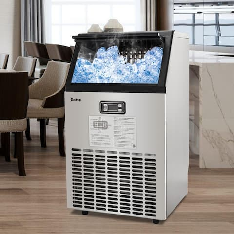 Stainless Steel Commercial Ice Maker Machine 33Lbs Capacity ETL