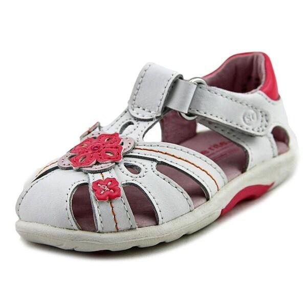 Stride Rite SRT PS Hazel Infant Open Toe Leather White Sandals