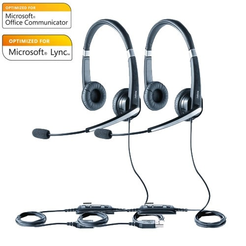 Jabra Voice 550 Duo MS Stereo Corded Headset w/ Noise Reduction System (2 Pack)