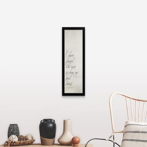 """""""The One"""" Black Framed Print"""