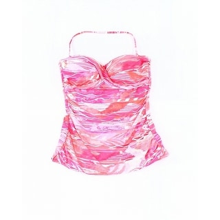 e5452913a5d98 Shop Lauren by Ralph Lauren Pink Womens Size 10 Halter Swim Tankini Top - Free  Shipping On Orders Over $45 - Overstock - 27974684