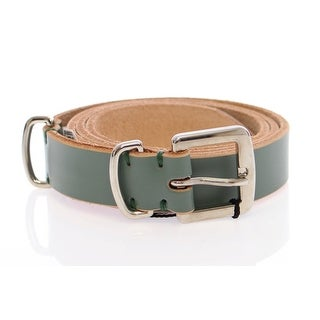 Dolce & Gabbana Green Leather Logo Belt - 90-cm-36-inches