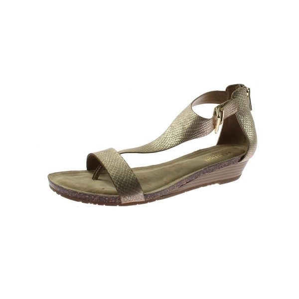 3835bef4e36 Shop Kenneth Cole Reaction Womens Great Gal Wedge Sandals T-Strap ...