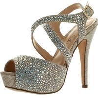 De Blossom Womens Vice-153 Dressy Party Heels Sandals