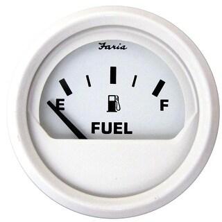 "Faria Dress White 2"" Fuel Level Gauge (E-1/2-F) - 13101"