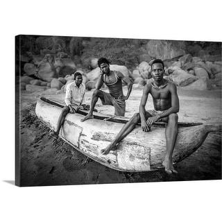 Carlos German Romero Premium Thick-Wrap Canvas entitled Fishermen