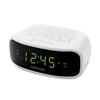 Magnasonic Digital AM/FM Clock Radio with Battery Backup, Dual Alarm, Sleep/Snooze Functions, Display Dimming  Option