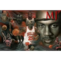 ''MJ Collage'' by Anon African American Art Print (24 x 36 in.)