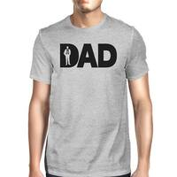 Dad Business Mens Gray Cotton T-Shirt Round Neck Gift Ideas For Dad