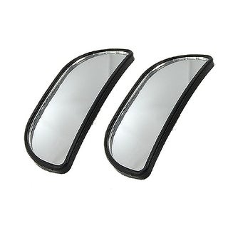 2 Pcs Black Frame Adjustable Rearview Blind Spot Mirrors for Car