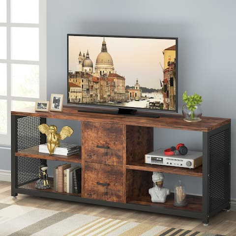 Tribesigns TV Stand for TV up to 65 inch, TV Entertainment Center Media Console Table