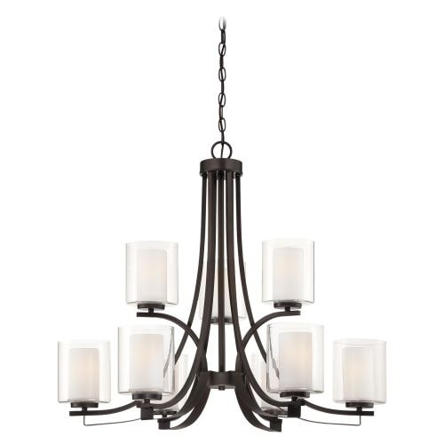 Minka Lavery 4109 9 Light 2 Tier Chandelier from the Parsons Studio Collection