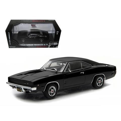 1968 Dodge Charger Black R/T Steve McQueen Bullitt Movie (1968) 1/43 Diecast Model Car by Greenlight