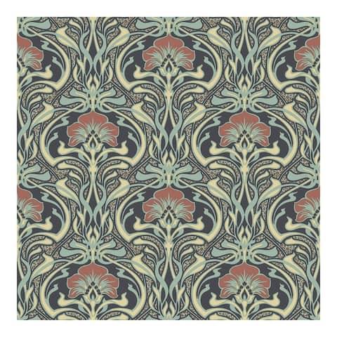 Donovan Moss Nouveau Floral Wallpaper - 20.5 x 396 x 0.025