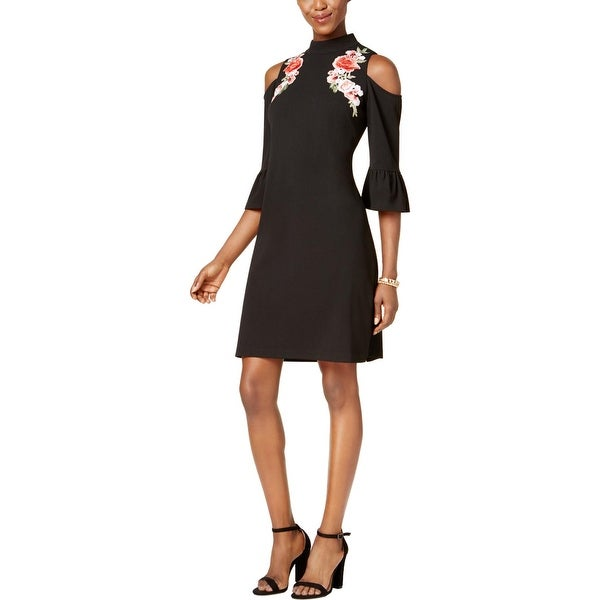fcdcd1205b1 Shop Jax Black Label Womens Cocktail Dress Crepe Floral - On Sale ...