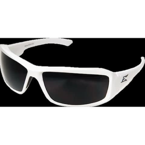 Edge Eyewear TXB246 Brazeau Safety Glasses, White Frame/Polarized Smoke Lens