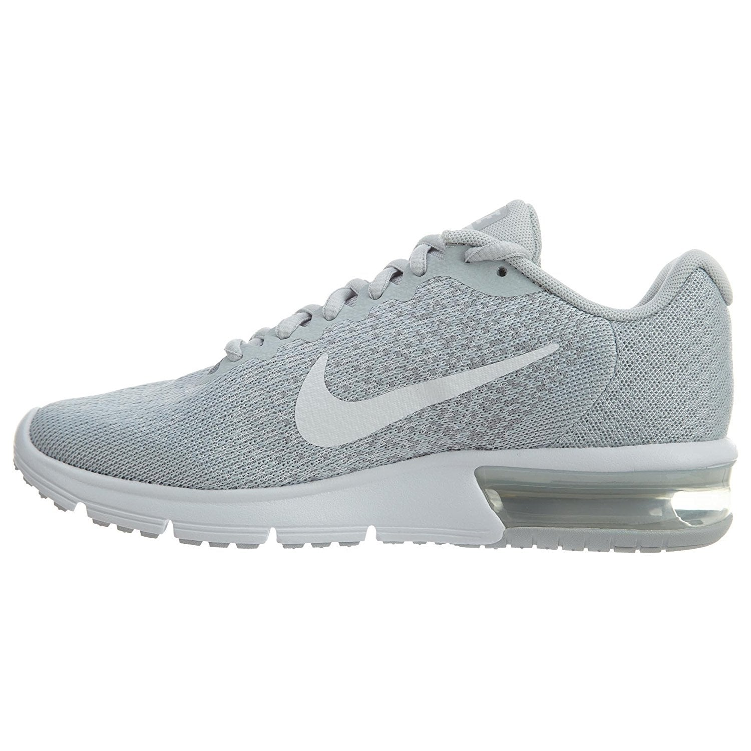 303b25e32a9343 Shop Nike Air Max Sequent 2 Pure Platinum White Wolf Grey Women s Running  Shoes - Free Shipping Today - Overstock - 17950061