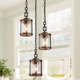 "The Gray Barn Horse Hollow Rustic 1 Light Hanging Foyer Pendant Lighting Fixture - W 6""x H 7.5"""